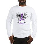 Butterfly Pancreatic Cancer Long Sleeve T-Shirt