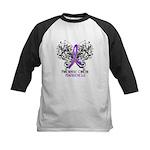 Butterfly Pancreatic Cancer Kids Baseball Jersey