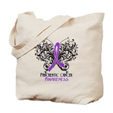 Butterfly Pancreatic Cancer Tote Bag