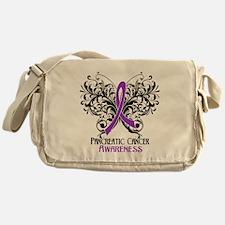 Butterfly Pancreatic Cancer Messenger Bag