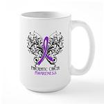Butterfly Pancreatic Cancer Large Mug