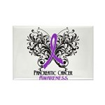 Butterfly Pancreatic Cancer Rectangle Magnet (100