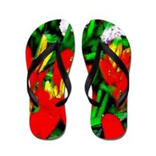 Red Hot Lily Flip Flops
