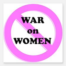 "War on Women Square Car Magnet 3"" x 3"""