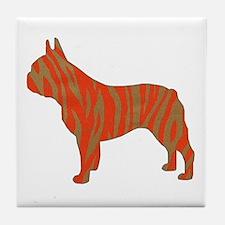 Tiger Frenchie Tile Coaster