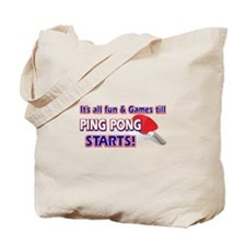 Cool Ping Pong Designs Tote Bag