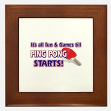 Cool Ping Pong Designs Framed Tile