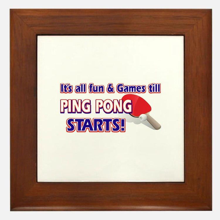 Cool Ping Pong Designs Framed Tile