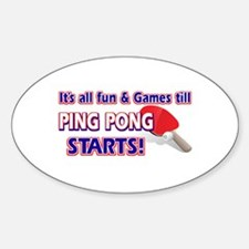 Cool Ping Pong Designs Sticker (Oval)
