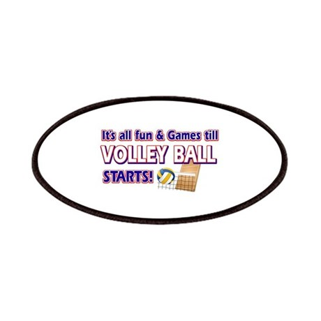 Cool volleyball designs patches by sportzandgamez