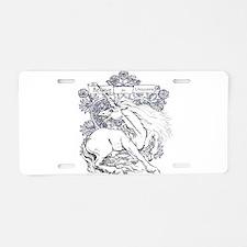 Believe in Unicorns Aluminum License Plate