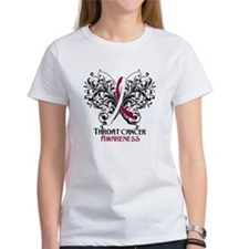 Butterfly Throat Cancer Tee