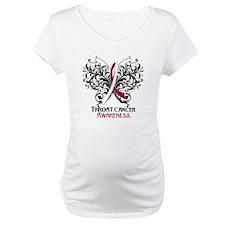 Butterfly Throat Cancer Shirt