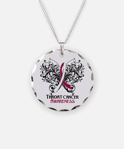 Butterfly Throat Cancer Necklace