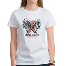 Butterfly Uterine Cancer Tee