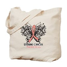 Butterfly Uterine Cancer Tote Bag