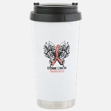 Butterfly Uterine Cancer Travel Mug