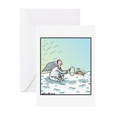 A Dog in Heaven Greeting Card