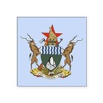 Zimbabwe Coat Of Arms Square Sticker 3