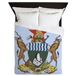 Zimbabwe Coat Of Arms Queen Duvet