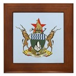 Zimbabwe Coat Of Arms Framed Tile