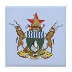 Zimbabwe Coat Of Arms Tile Coaster