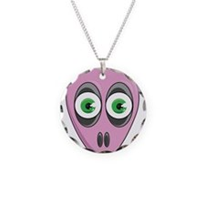 Ugly Mutt Frank the Alien Pink Necklace Circle Cha