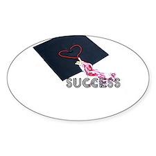 success cap heart graduate Decal