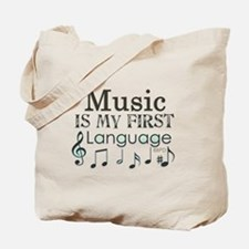 Music is my first Language Tote Bag