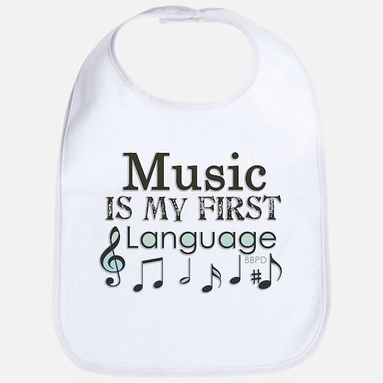 Music is my first Language Bib