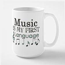 Music is my first Language Ceramic Mugs