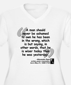Pope Wiser Quote T-Shirt