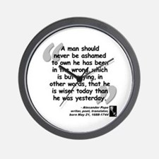 Pope Wiser Quote Wall Clock