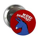 Maine Democratic Donkey Button