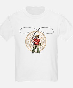 Fly Caster kids tee