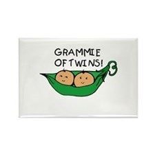 Grammie of Twins Rectangle Magnet