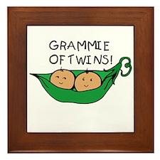 Grammie of Twins Framed Tile
