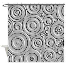 Metallic Circles Shower Curtain