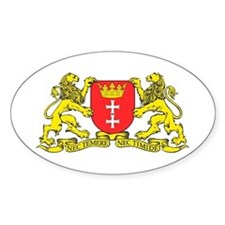 Gdansk, Poland city symbol Oval Decal