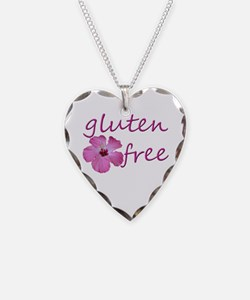 Gluten-Free Hibiscus Necklace Heart Charm