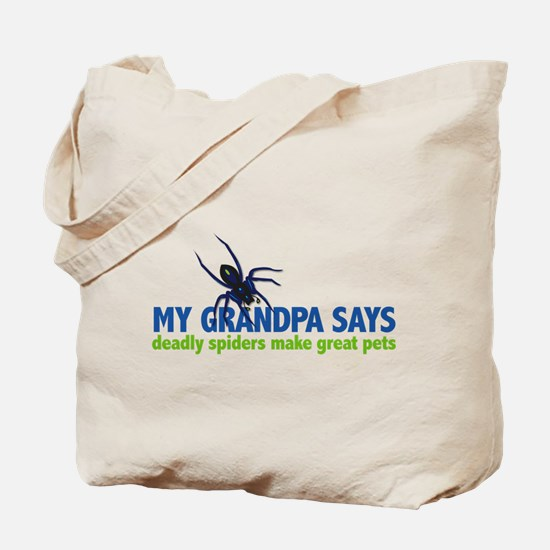 My Grandpa Says deadly spiders make great pets Tot