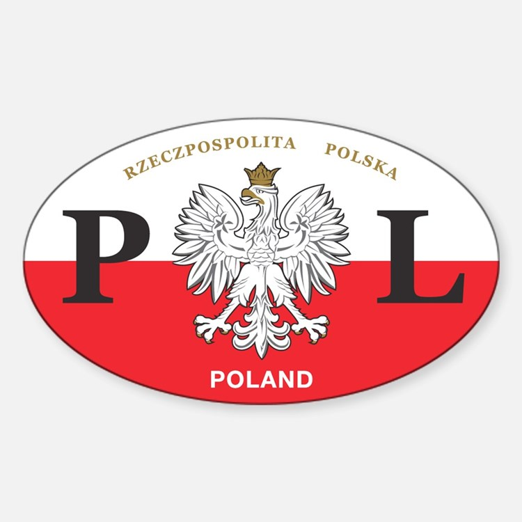 PL Car Decal - Polish Hritage - Oval Stickers