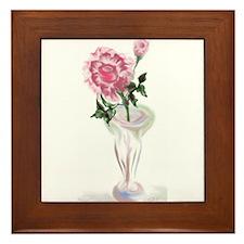 Rose in Vase Framed Tile
