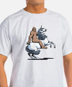 Bigfoot Riding a Unicorn T-Shirt