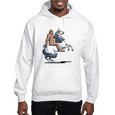 Bigfoot Riding a Unicorn Hoodie