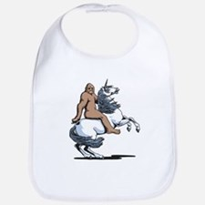 Bigfoot Riding a Unicorn Bib