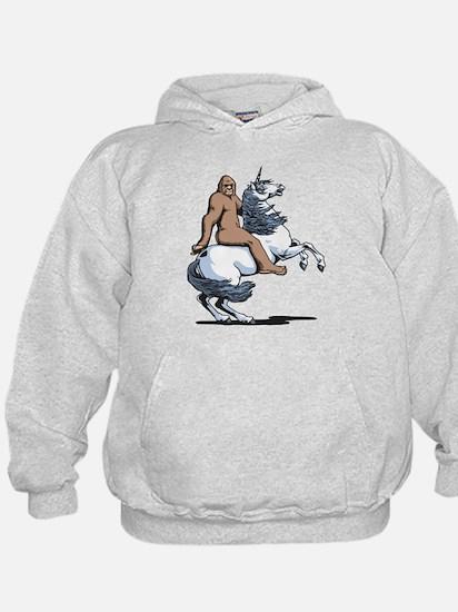 Bigfoot Riding a Unicorn Hoody