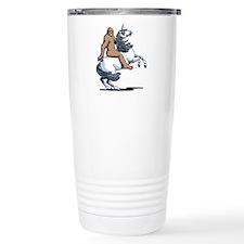Bigfoot Riding a Unicor Travel Mug