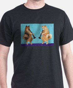 Pomeranian Clarinet Duo T-Shirt