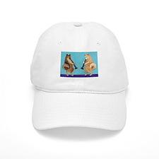 Pomeranian Clarinet Duo Baseball Cap